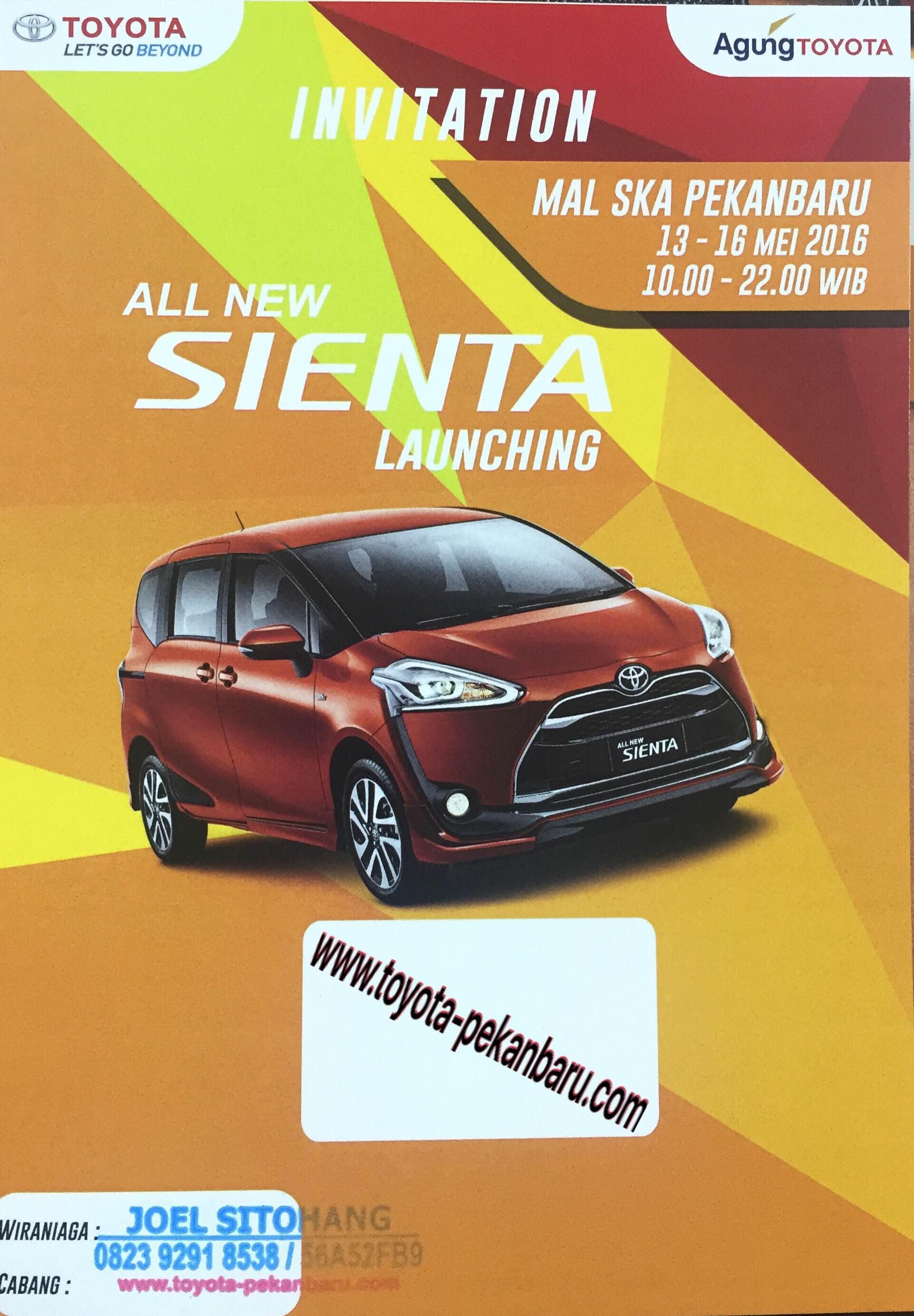 Launching dan Promo Toyota Sienta Pekanbaru